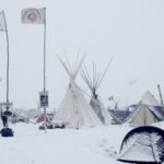 Water protectors camped at Standing Rock for months despite extreme winter conditions.