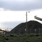 Debris pile at the bankrupt PR Springs tar sands mine. A new oil train could make dirty fuels like tar sands profitable.